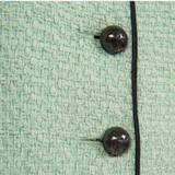 Women Chanel Tweed Jacket Mint Green - Size S  Green US 4 FR 36