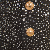 Women Balmain Crystal-Embellished Overalls with Gold Chain Straps -  Black  Multi Size S US 6 FR 38