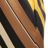 Women Fendi Halter Neck Diagonal Striped Dress - Size M  Yellow  Multi US 6 IT 42