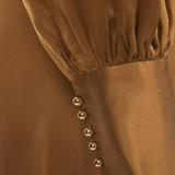 Women Zimmerman Asymmetric Hem Wrap Dress Olive Green -  Green Size S US 2