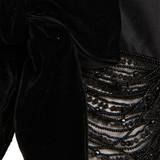 Women Elie Saab Bead Embroidered Gilet -  Black Size L US 12 FR 44