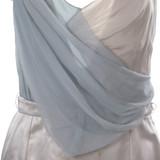 Women Christian Dior Silk Satin Mini Dress Baby Blue -  Silver  Blue Size S US 6 FR 38
