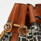 Women Fendi Mon Tresor Bucket Bag Leather/Plastic -  Black  Brown