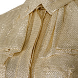 Women Fendi Short Sleeve Shirt Gold -  Gold Size S IT 42 US 6