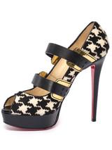 Women Christian Louboutin Calf Hair & Leather Bikini Peep Toe Heels -  Multi Size 40 US 10