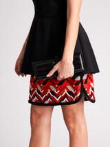 Women Gucci Rectangle Box Clutch -  Black