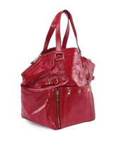 Women Saint Laurent Downtown Tote -  Red