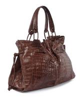 Women Nancy Gonzalez Exotic Leather Bag -  Brown
