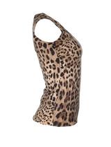 Women Dolce & Gabbana Leopard Knit Vest -  Leopard Size S IT 38 US 2
