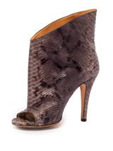 Women Maison Martin Margiela Ankle Peep-Toe Heels -  Grey Size 39 US 9