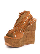 Women Ash Blossom Wedges -  Brown Size 39 US 9