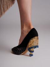 Peep-Toe Jewelled Heel