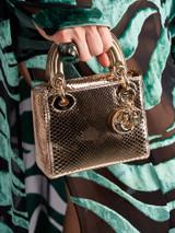 Women Christian Dior Mini Lady Dior - Gold
