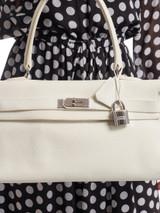 Women Hermès Clemence JPG Shoulder Kelly - White