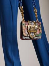 Multicolor Exotic Leather Buckle Mini Bag