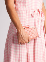 Women Valentino Mini Quilted Clutch Bag - Pink