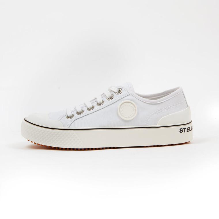 Women Stella McCartney Low Top Cotton Canvas Sneakers -  White Size 38 US 7.5 EU 38