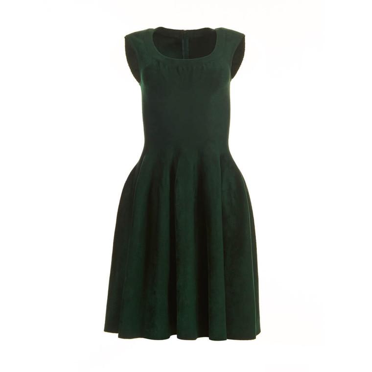 Women Alaïa Fit and Flare Dress Dark Green -  Green Size S US 4 FR 36