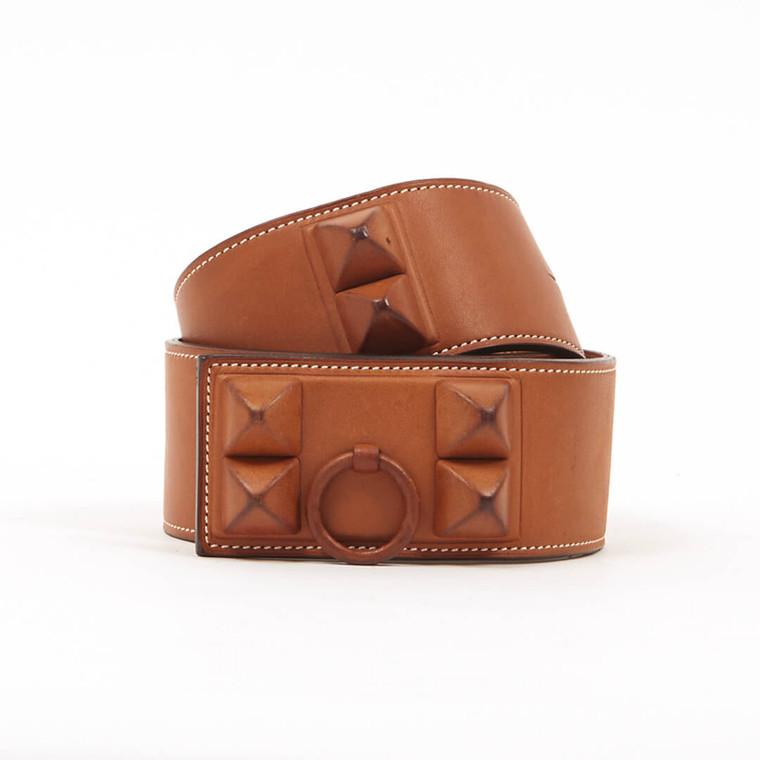Women Hermès Colier de Chien Shadow Belt -  Brown