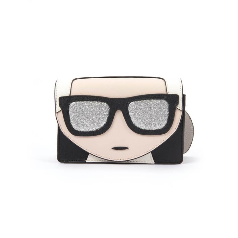 Women Karl Lagerfeld Ikonik Mini Crossbody Bag -  Black  Multi