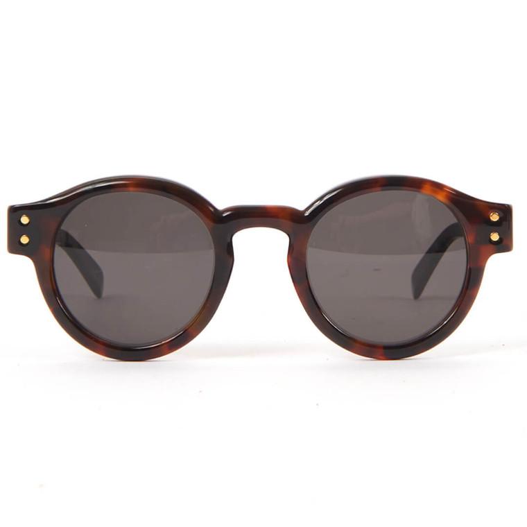 Women Retro Superfuture Eddie Havana Round Acetate Sunglasses -