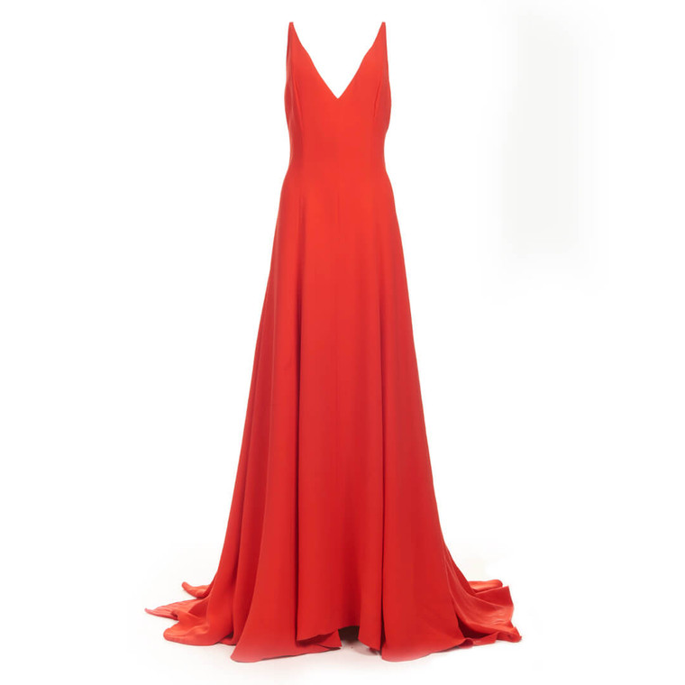 Women Valentino Silk Gown Red - Size M  Red US 8 IT 44