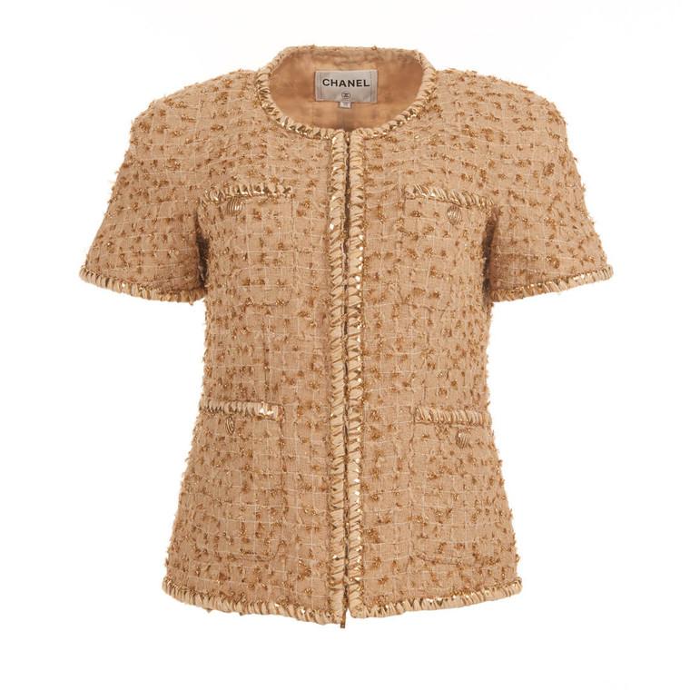 Women Chanel Bouclé Jacket Beige - Size S  Beige FR 38 US 6