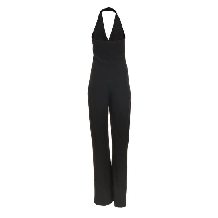 Women Alexander McQueen Halter Neck Jumpsuit Black -  Black Size L US 12 FR 44