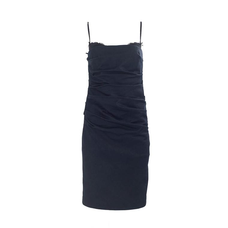 Women Moschino Denim Mini Dress -  Blue Size XS US 2 IT 38