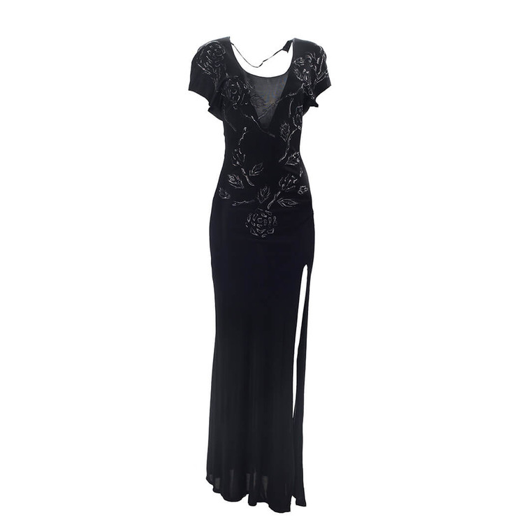 Women Jitrois Fitted Dress with Scoop Back - Size S  Black US 4 FR 36