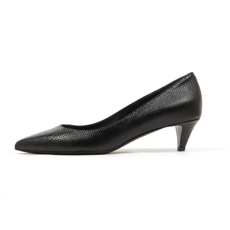 Women Céline Leather Kitten Heel Pumps Black -  Black Size 38