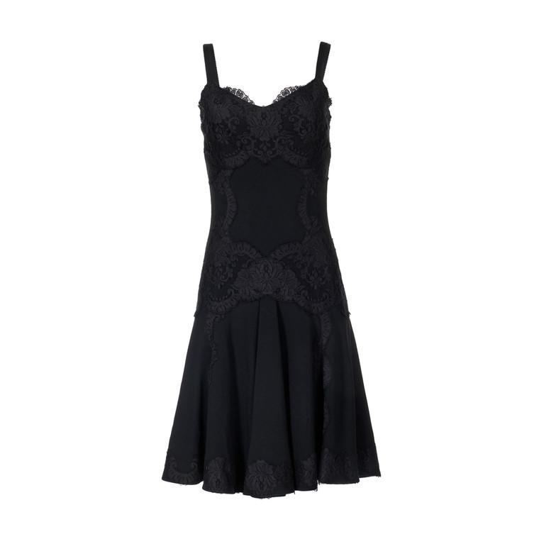 Women Dolce & Gabbana Sleeveless Black and Lace Dress -  Black Size S IT 40 US 4
