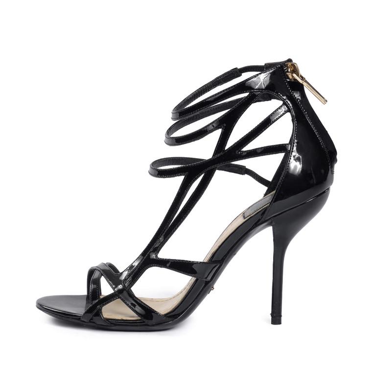 Women Dior Strap Sandal Heel Black -  Black Size 37 US 6