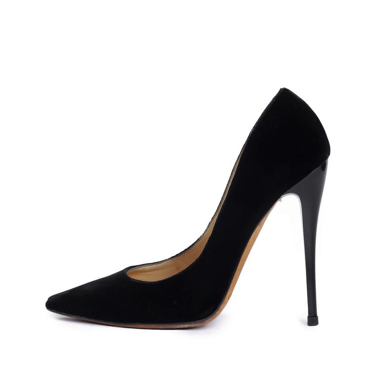 Women Jimmy Choo Black Romy Velvet Pumps -  Black Size 37.5 US 6.5