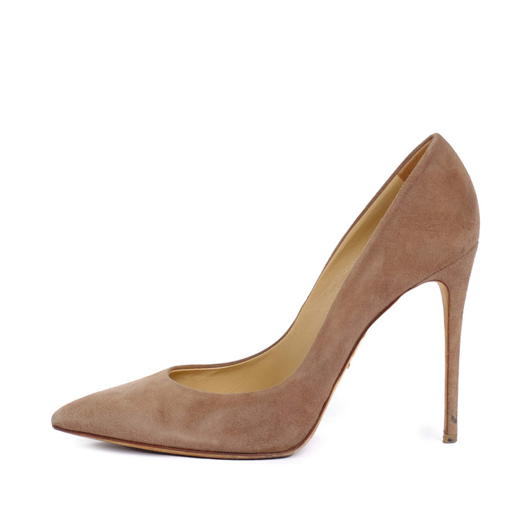 Women Dolce & Gabbana Brown Suede Pointed-Toe -  Brown Size 38 US 7