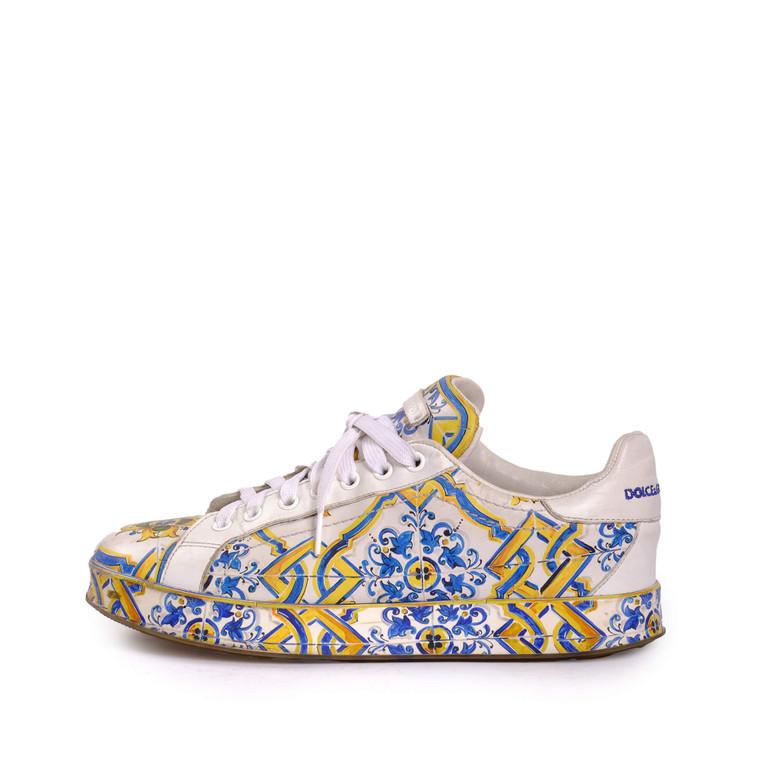 Women Dolce & Gabbana Majolica Printed Sneaker -  Multi Size 39 US 8