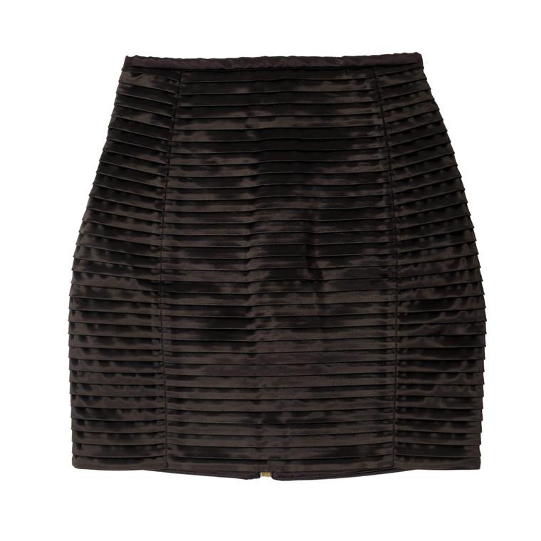 Women Balmain Pleated Mini Skirt -  Black Size M FR 40 US M