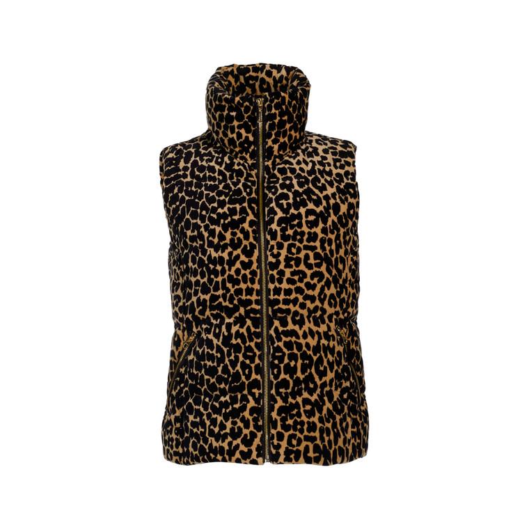 Women Juicy Couture Leopard Print Puffer Vest -  Multi Size M US 6