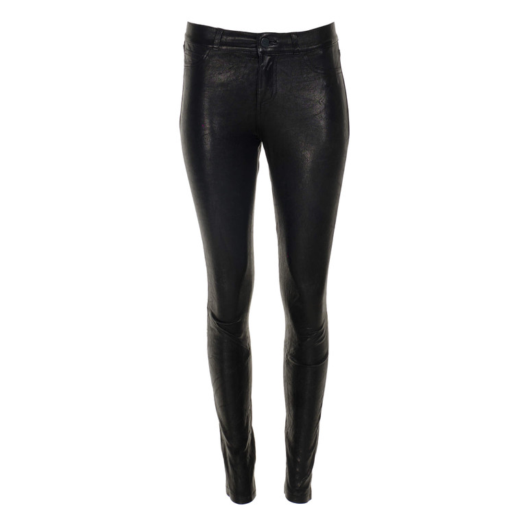 Women Paige Leather Pants Black -  Black Size S US 26