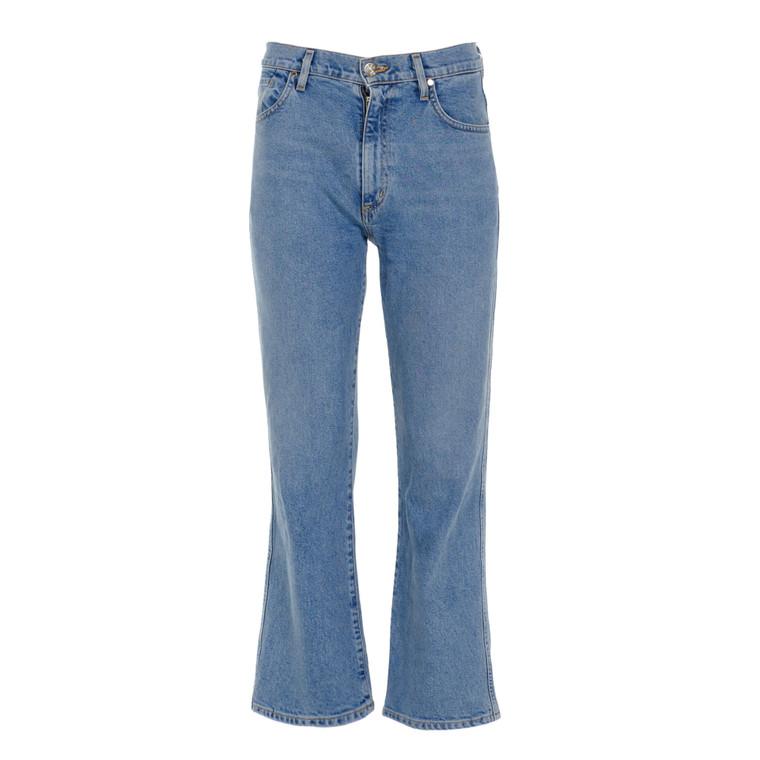 Women Gold Sign Loose Fit Jeans Blue -  Blue Size S US 26