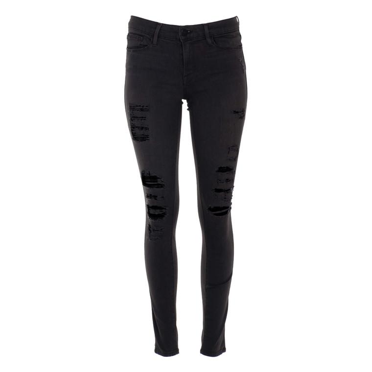 Women Frame Le Skinny de Jeanne Jeans Black -  Black Size S US 27