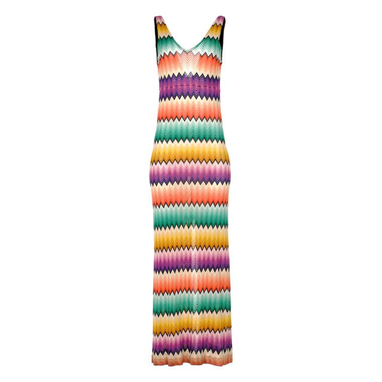 Women Missoni Striped Maxi Dress -  Multi Size S IT 40 US 4