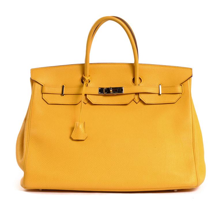 Women Hermès Birkin 40 -  Yellow