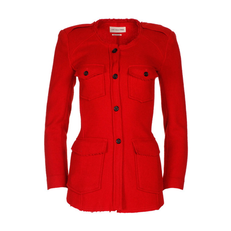 Women Isabel Marant Button Up Jacket Red -  Red Size S FR 34 US 2