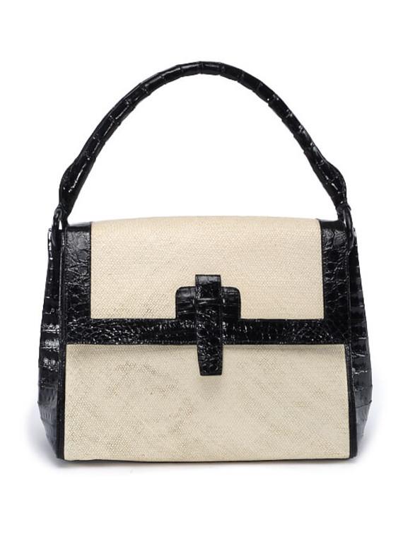 Women Nancy Gonzalez Python Edge Bag -  White