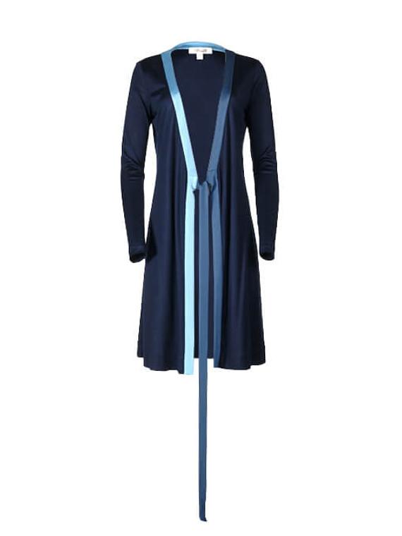 Women Diane Von Furstenberg Wrap Jacket -  Blue Size M US 6
