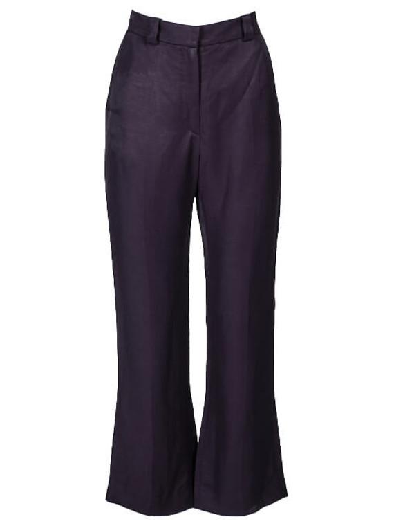 Women Sandro Cropped Flare Pant -  Black Size M FR 38 US 6