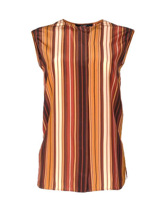 Women Gucci Striped Blouse -  Orange Size S IT 38 US 2
