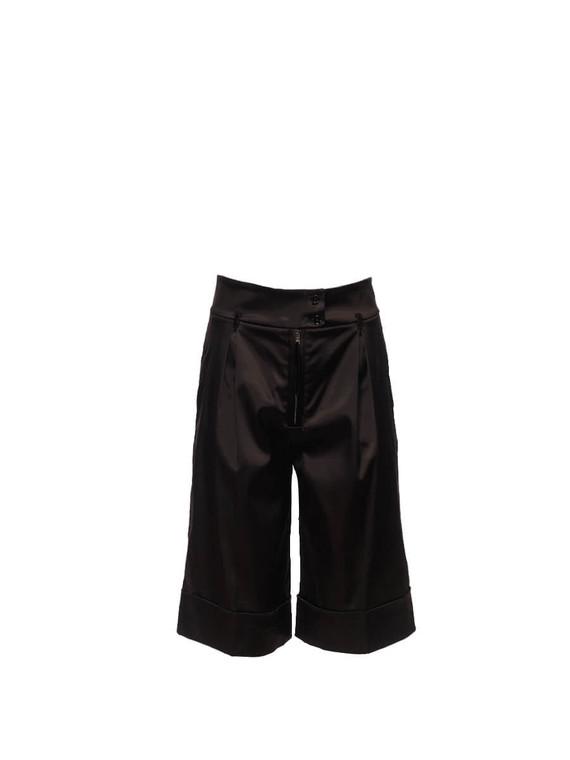 Women Dolce & Gabbana Satin Shorts -  Black Size M IT 42 US 6