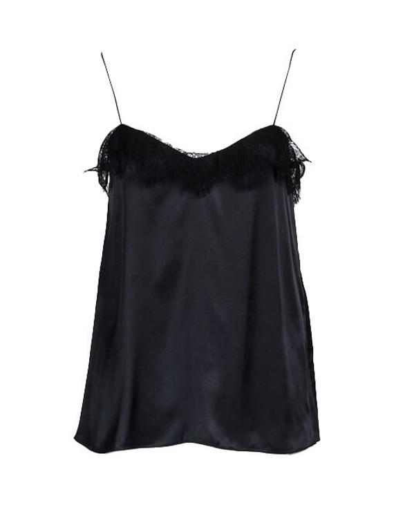 Women Lanvin Lace Camisole -  Black Size M FR 38 US 6